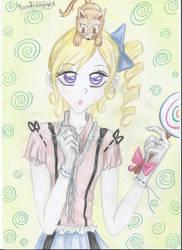 anime girl by marybomfigli