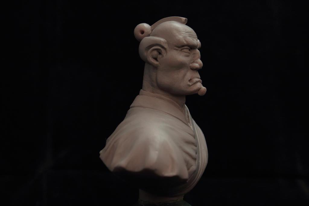 Baldy topknot Samurai by Sarkazum on DeviantArt