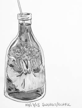 Swollen/bottle