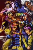 90s X-Men by Art1derer