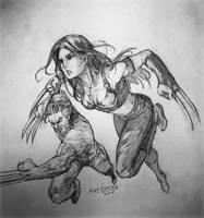 X23 and Wolverine by Art1derer
