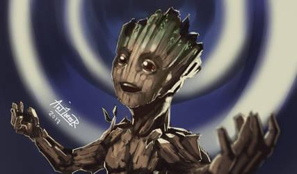 Baby Groot by Art1derer