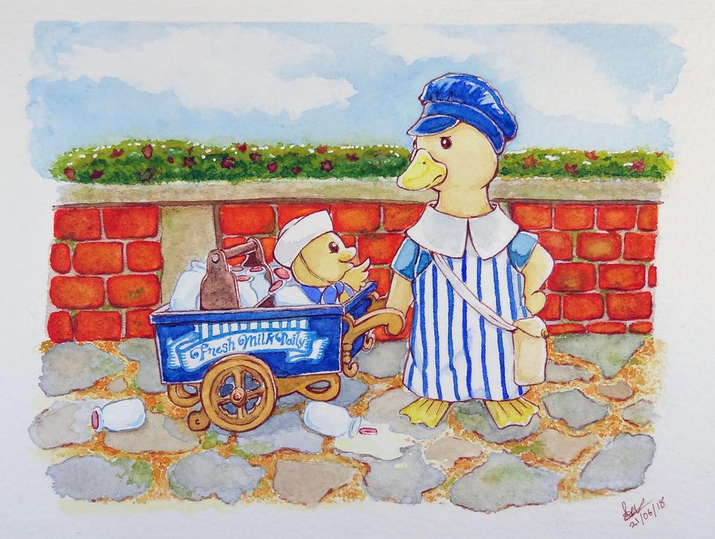 Milk Cart Stowaway by bbqweasel