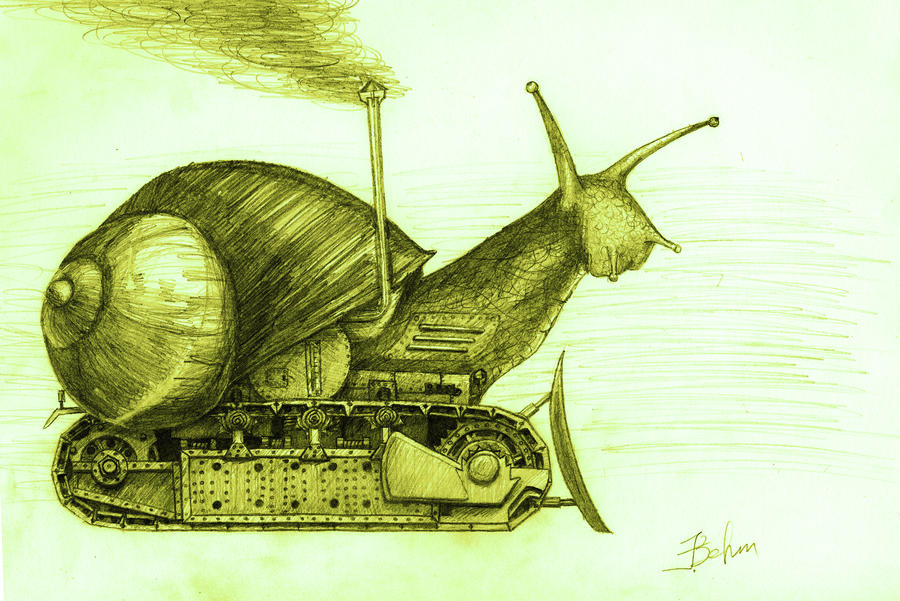 diesel-powered snail by EugenBehm