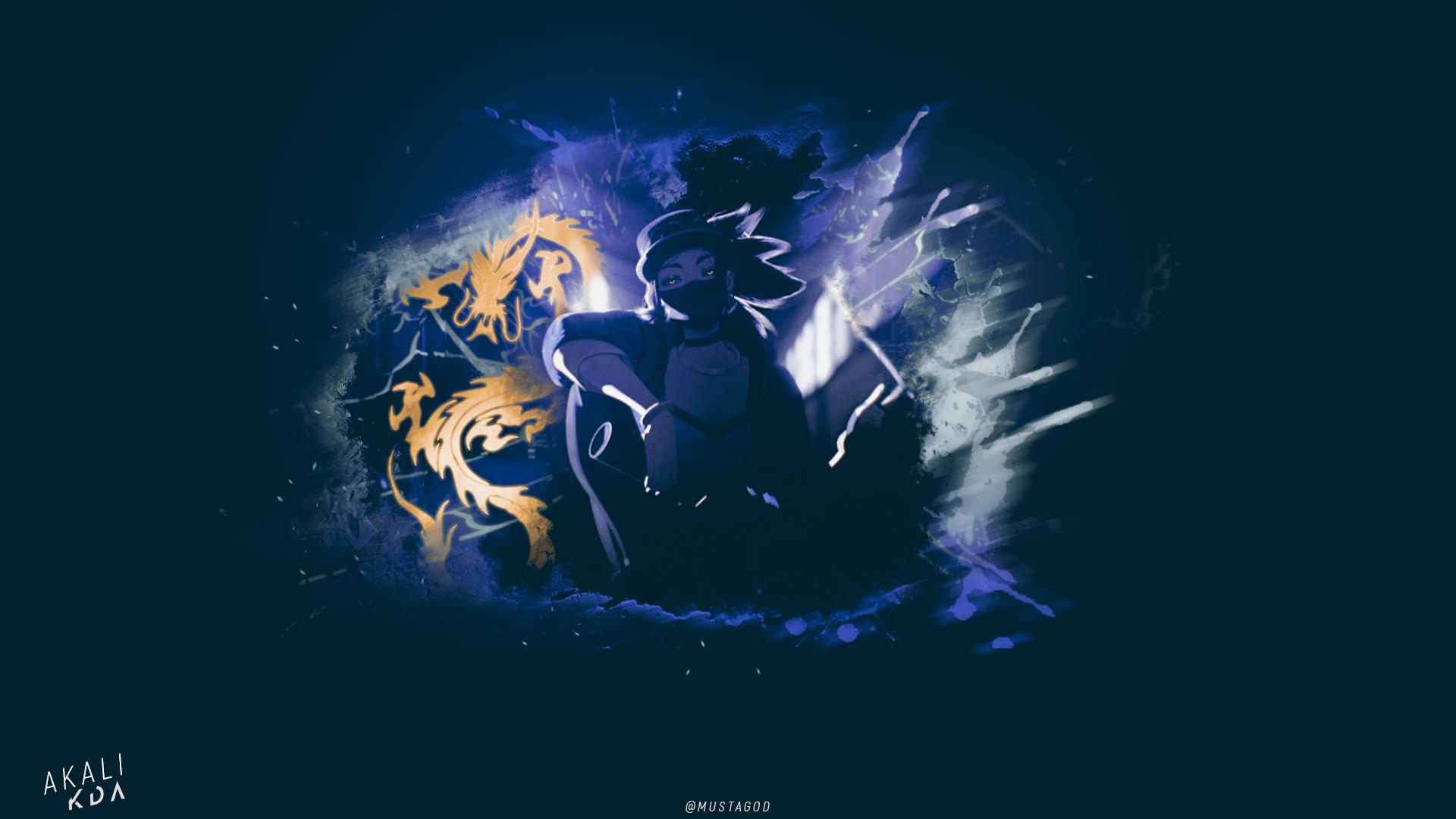 KDA/ Akali / Blue by AlexMust4ng