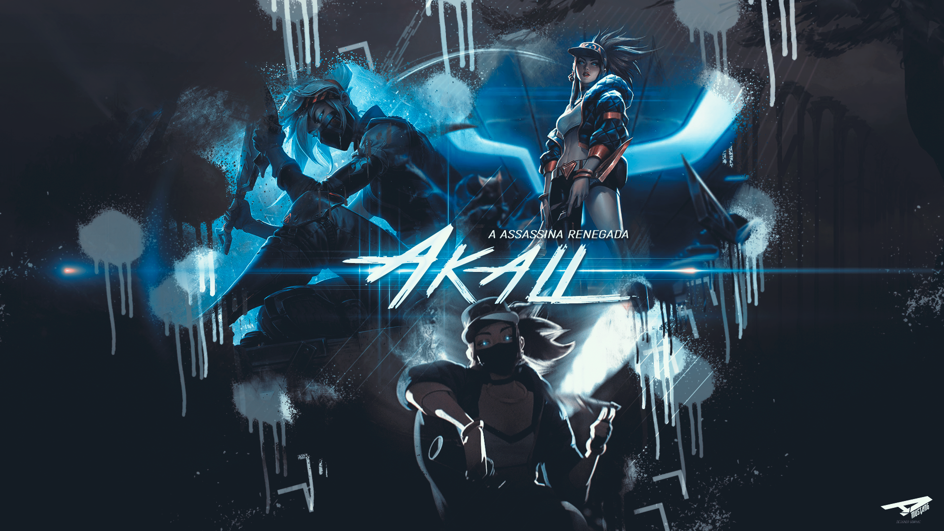 Akali | Blue Paint by AlexMust4ng