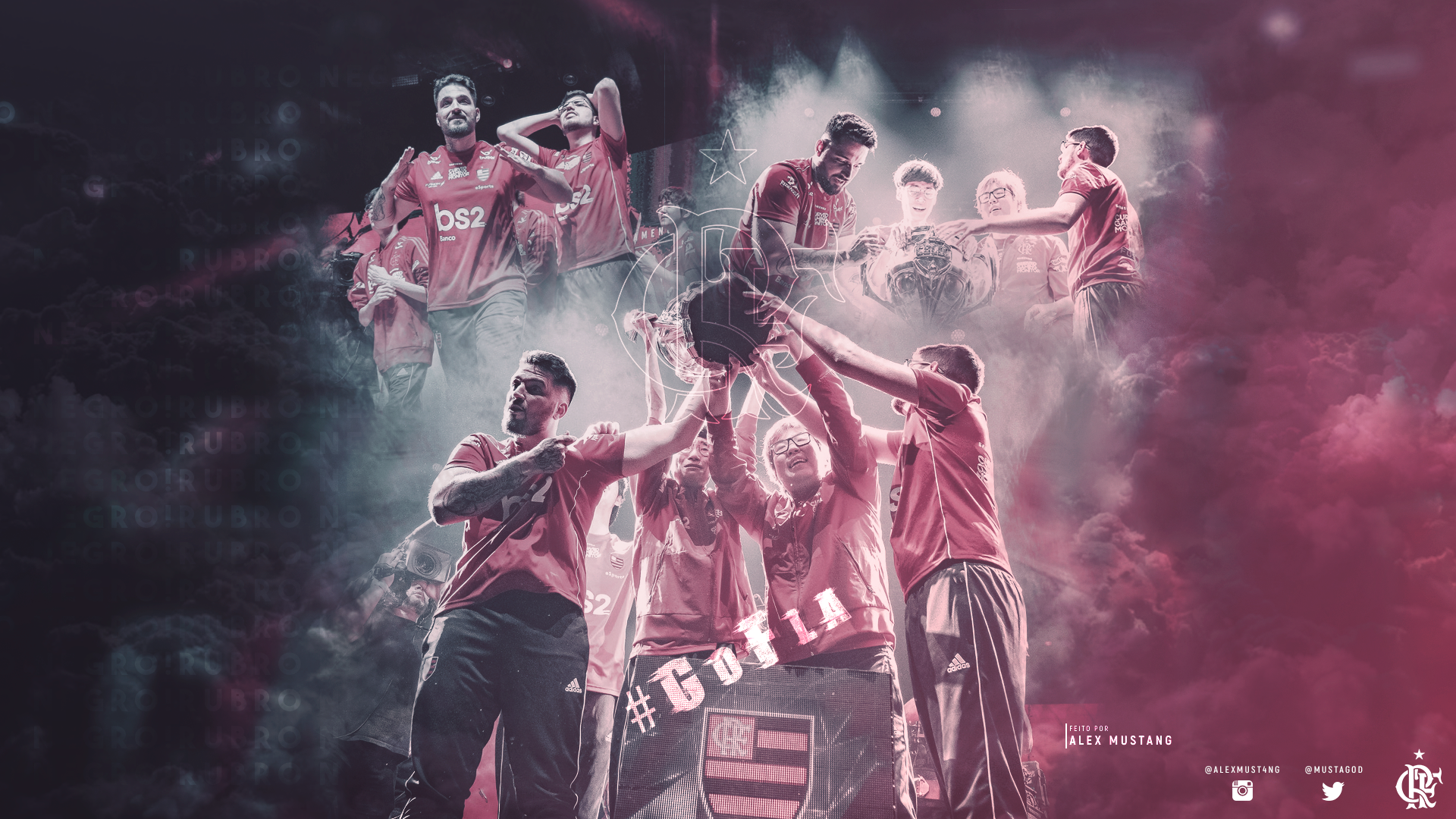Flamengo #GoFLA | Wallpaper Desktop by AlexMust4ng