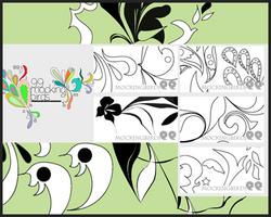 5 brush sets: 99mockingbirds by 99mockingbirds