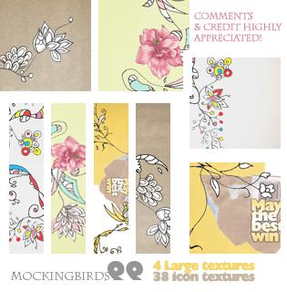 4 textures 38 icon textures by 99mockingbirds