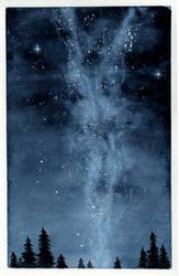 Milky way night sky by Sarosna85