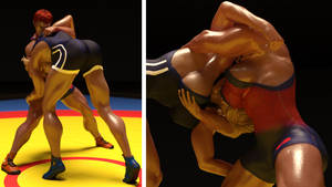 Playing around with Olympic-style wrestling...