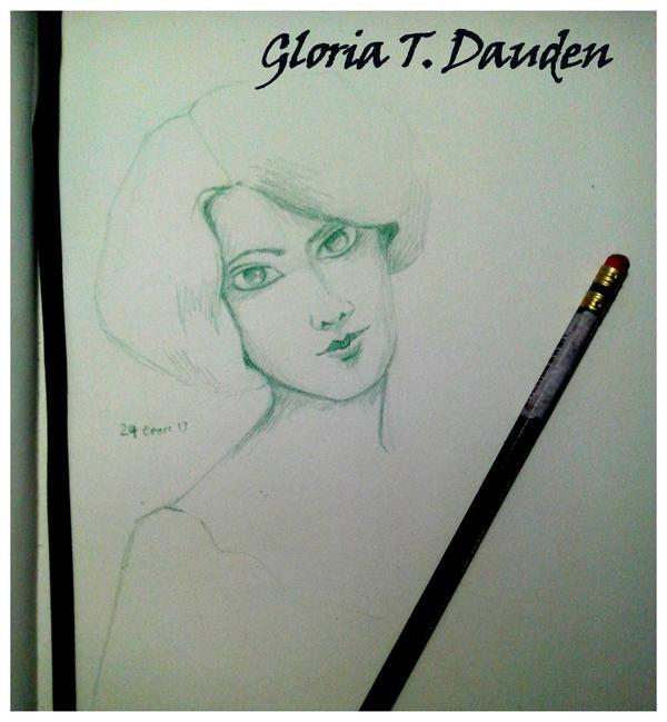 Green girl by Gloria-T-Dauden