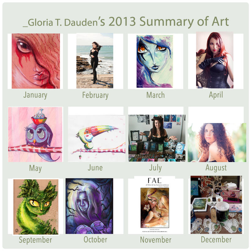 2013 Summary of Art by Gloria-T-Dauden