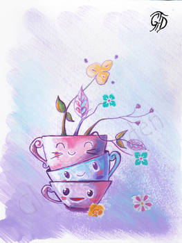 Tea time happiness