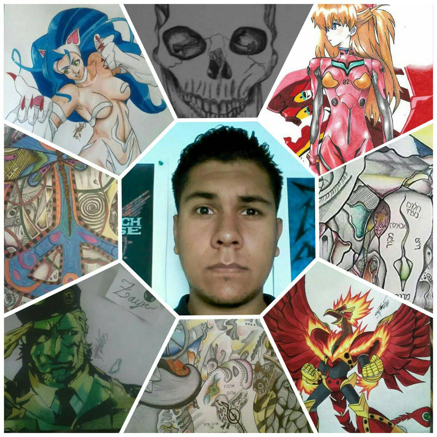 Me and my art. by Zayre706