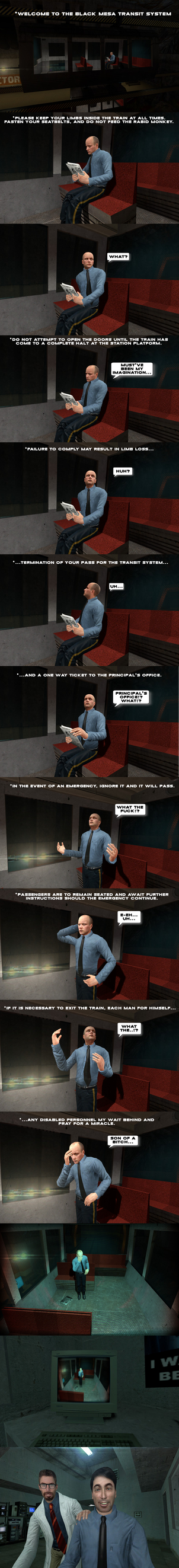 Black Mesa Days: Transit System by DarkMario2