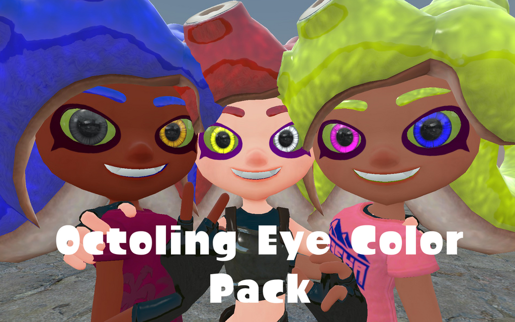 Octoling Eye Color Pack by DarkMario2