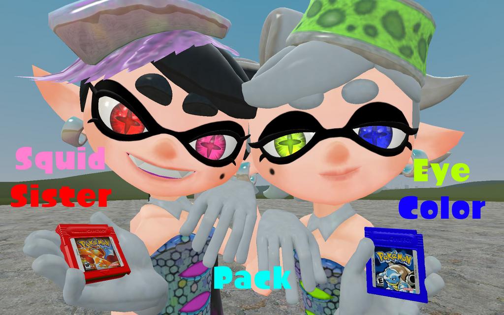 Squid Sister Eye Color Pack by DarkMario2