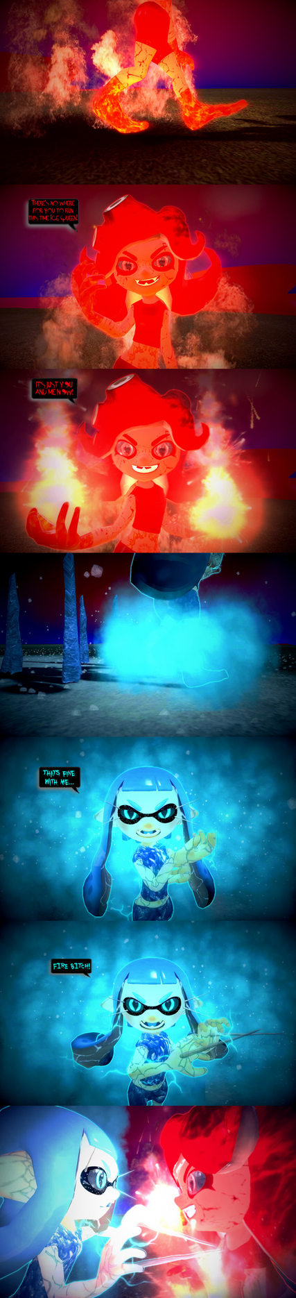 Teaser: Fire and Ice by DarkMario2