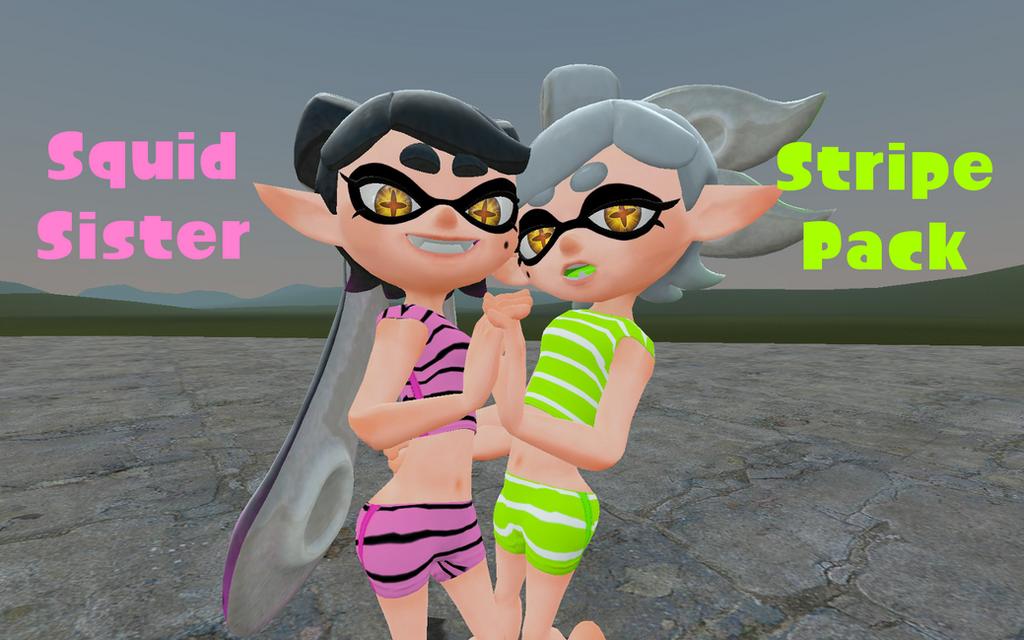 Squid Sister Stripe Pack by DarkMario2