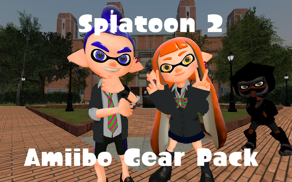 Splatoon 2 Amiibo Gear Pack by DarkMario2
