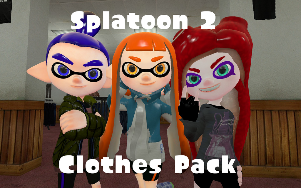 Splatoon 2 Clothes Pack by DarkMario2