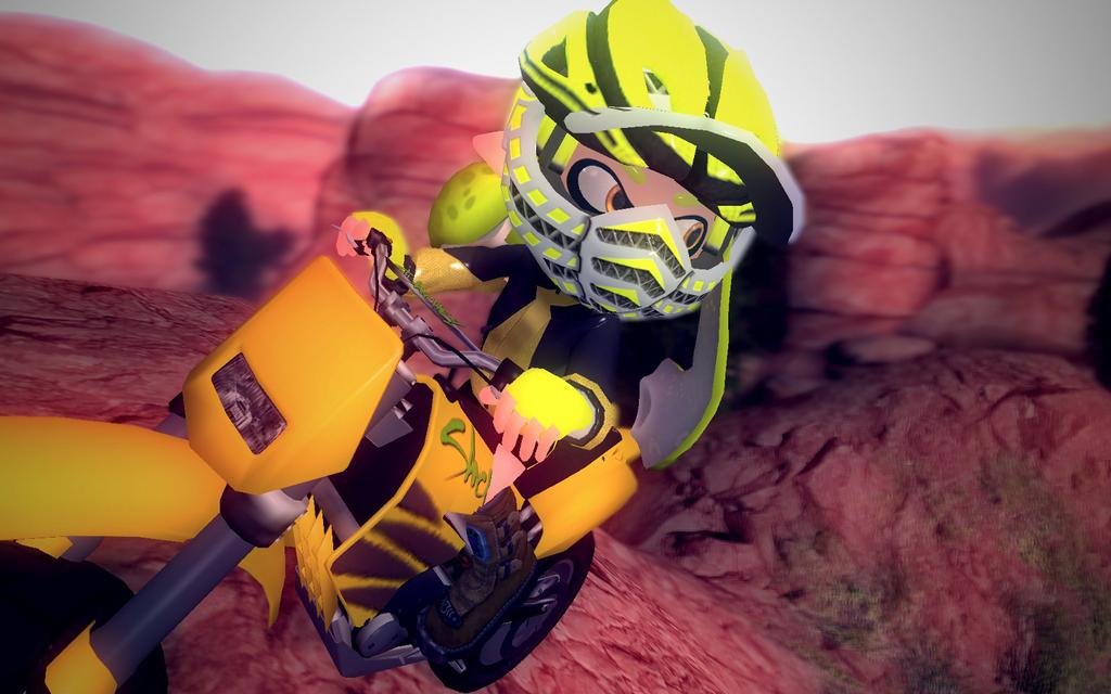 Yellow Moto by DarkMario2