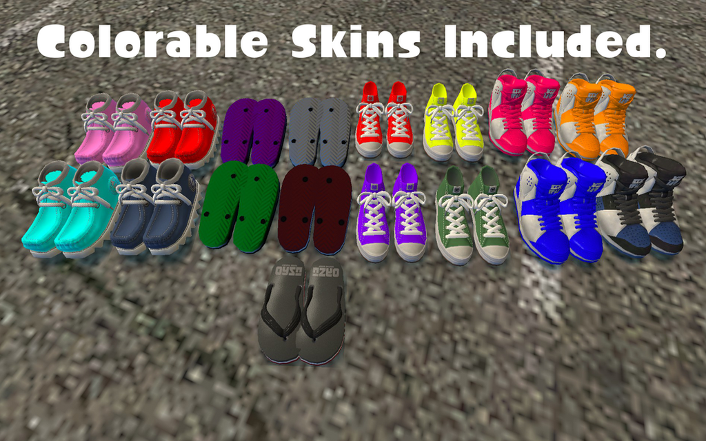 Colorable Skins by DarkMario2