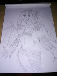 Aleena practice sketch. by DarkMario2