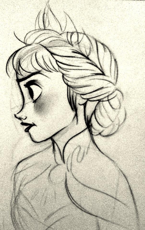 Elsa Sketch By CynthiaVilla On DeviantArt