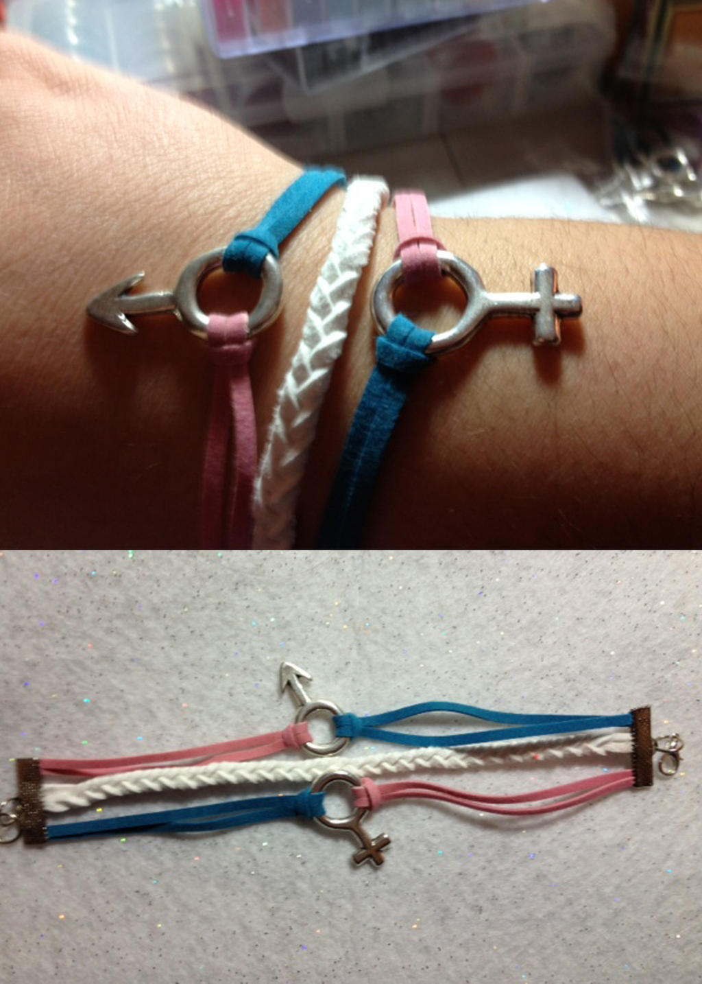 Transgender pride bracelet by AestheticSaturn