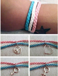 Trans* Pride bracelet