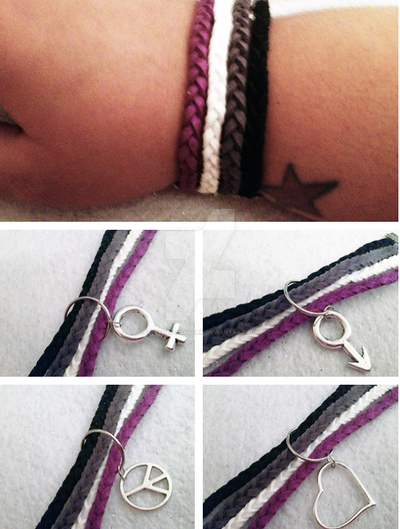 Asexual pride jewelry