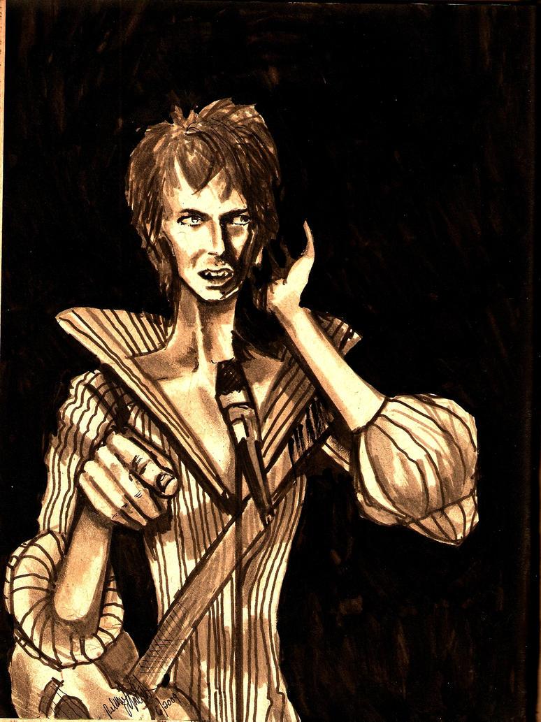 David Bowie as Ziggy by AiijuinGraphics