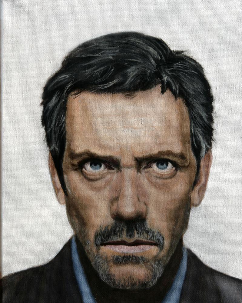 Hugh laurie oil painting by ko-tek