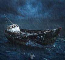 Ghost Ship by Wiyarsena
