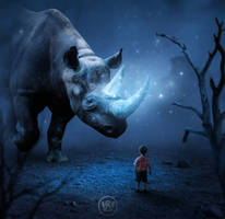 The Rhino by Wiyarsena