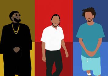 Krit Kendrick Cole. Rap Kings. by RooseveltNP