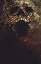 Tribal skull by ericinprogress