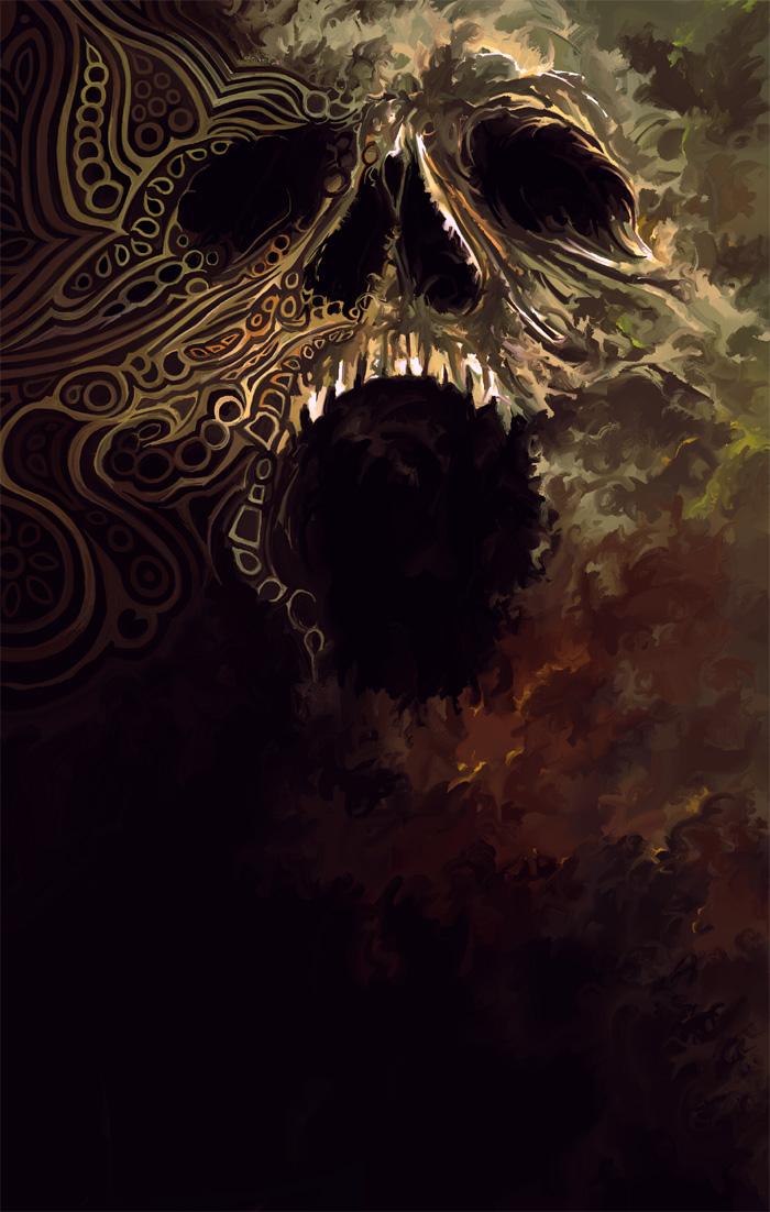 Tribal Skull Wallpaper