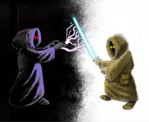 Jawa Jedi Vs. Jawa Sith by FirstPrimeOfCessna