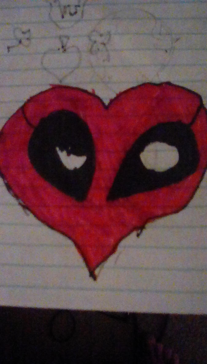 Deadpool Heart by Cupcake-Angels
