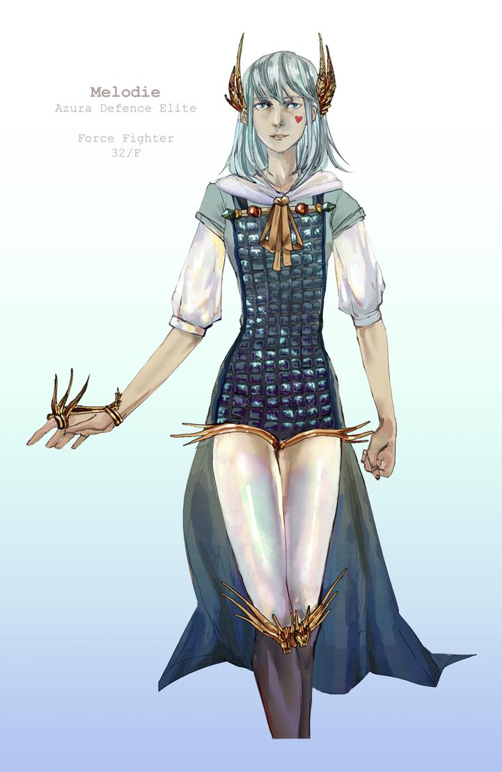 Melodie Elite Azura Guard Design [SPEEDPAINT] by juunc0