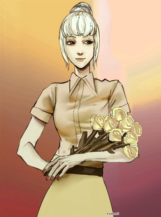 Jinsoyuu with roses by juunc0