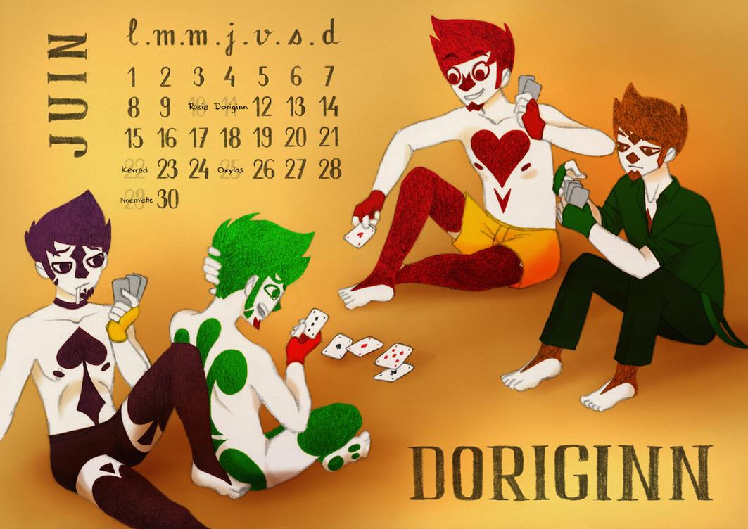 Calendrier lubien : Doriginn by CoyNino