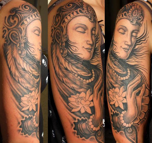 buddha tattoo atlantean by ~thothflashpan on deviantART
