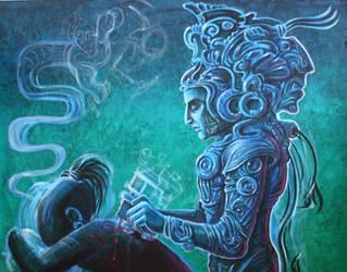 mayan tattoo by thothflashpan