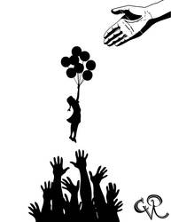 Banksy tribute stencil by cvredman