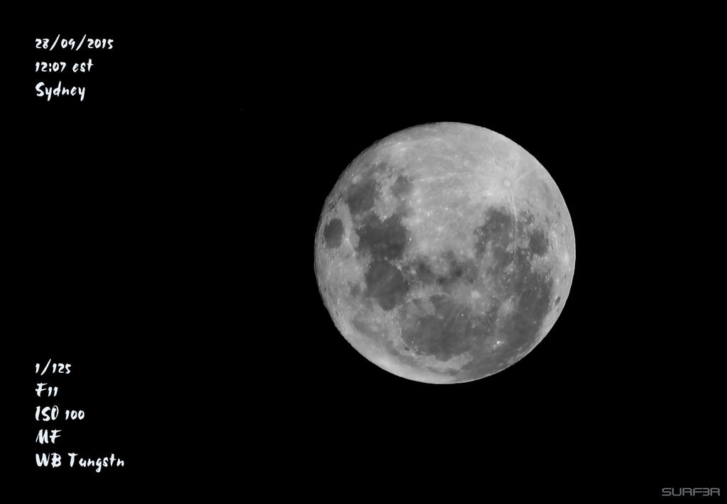 The Moon 28 09 2015 by GrahamSurferAndrews