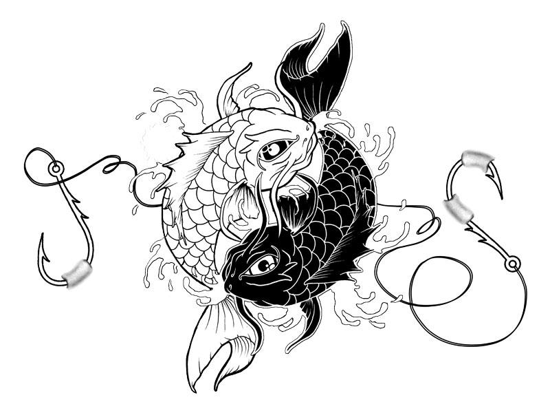 koi tattoo yin yang